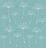 Dandelion seeds background - 63136483