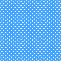 Seamless polka hearts pattern