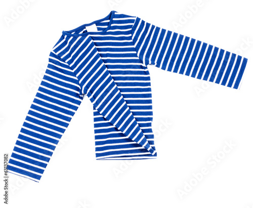 Kids striped shirt isolated on white folded