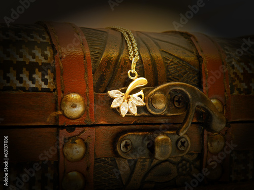 Old treasure chest Poster