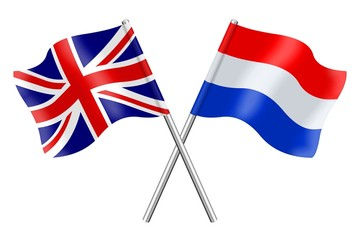 Flags: United Kingdom and the Netherlands