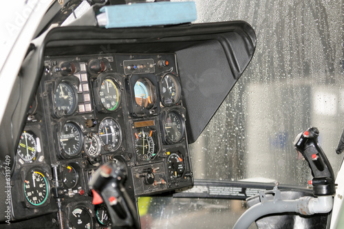 Instrumentation in rescue helicopter, cockpit BO-105