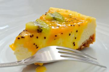 Kiwi & Passion Fruit Cheesecake