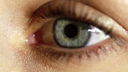 Human eye wlinking