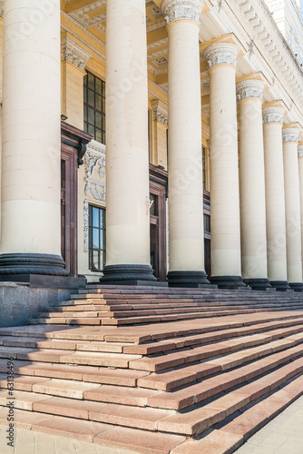 Pillars in Blue Sky, Train Station, Kharkov, Ukraine