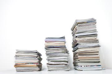 Three Stacks of Magazines
