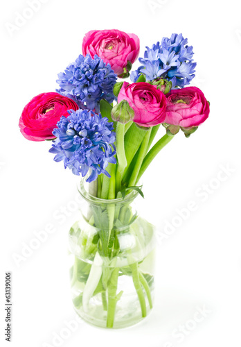 spring bouquet in glass vase