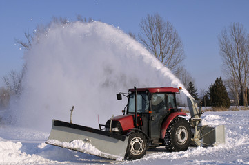 Tractor  snow blower