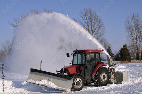 canvas print picture Tractor  snow blower