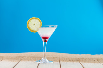 Martini cocktail with fresh lemon