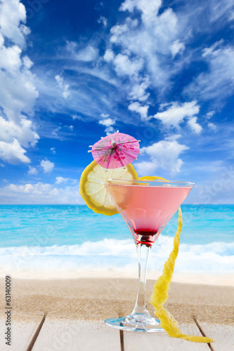 Martini cocktail at the beach
