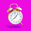 alarm clock purple background