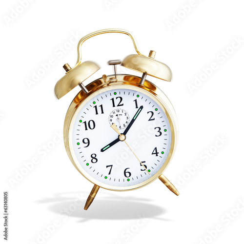 alarm clock white background