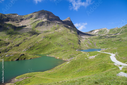 Bachalpsee lakes in Grindelwald, Switzerland.