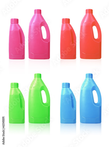 collage of colorful plastic bottle template