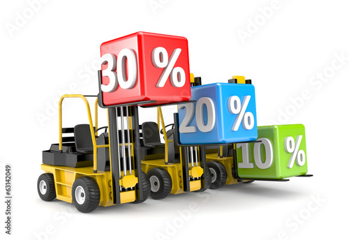 Forklift and percent boxes