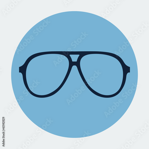 Retro sunglasses vector icon