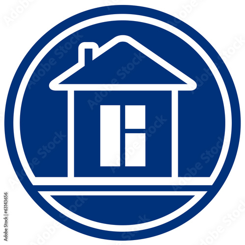 icon with house and window