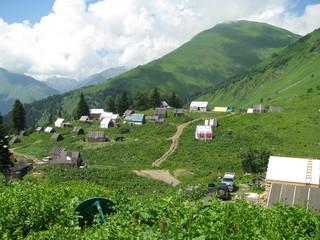 Деревня в горах. Красная Поляна
