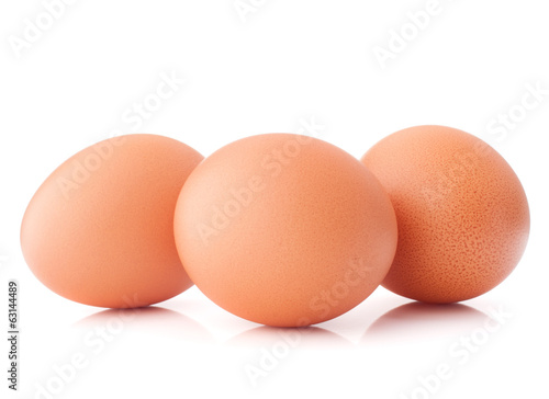 Egg isolated on white background cutout - 63144489
