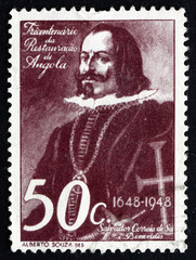 Postage stamp Angola 1948 Salvador Correia de Sa, Soldier