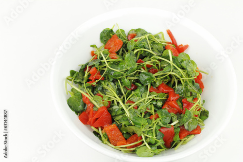 Red Peppers and Watercress