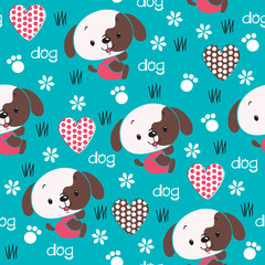 cute dog pattern vector illustration