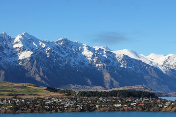 Remarkables Mountains over Kelvin Heights