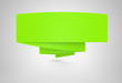 Werbebanner gefaltet - Grün