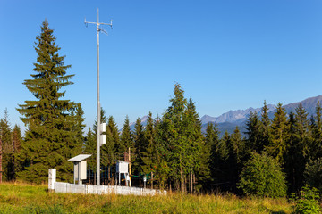 Meteorological station on Gubalowka Mountain - Poland.