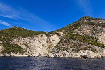 mountain slope in Zakynthos island, Greece