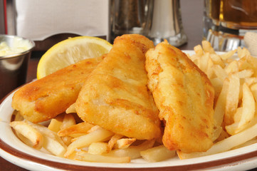 Beer battered fish sticks