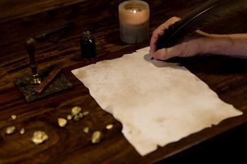 Pergament mit Platz fuer eigenen Text