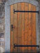 Leinwanddruck Bild - Holztür