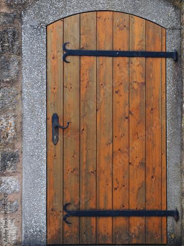 Leinwanddruck Bild Holztür