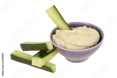 Hummus with Cucumber Sticks