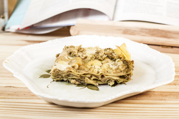 Lasagne with pesto