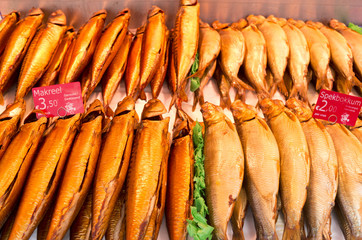 Fish in a fish stall at the Albert Cuyp market in Amsterdam, Net