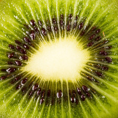 Kiwi fruit inside with seeds