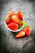 Delicious farm fresh juicy strawberries