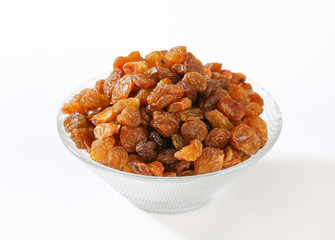 Bowl of raisins