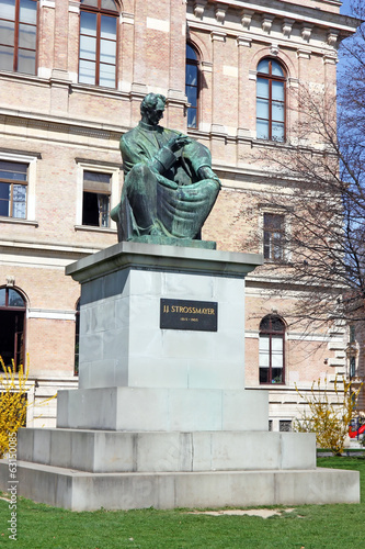 Statue of Bishop Strossmayer