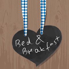 Bed & Breakfast,slate,ribbon,bavarian,wood,background