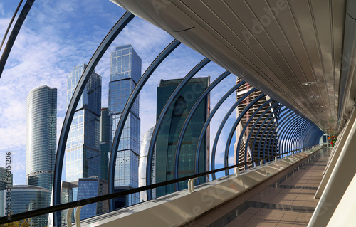 Footbridge Bagration at the Moscow City Business Centre, Russia