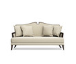 Isolated classic beige buttoned sofa