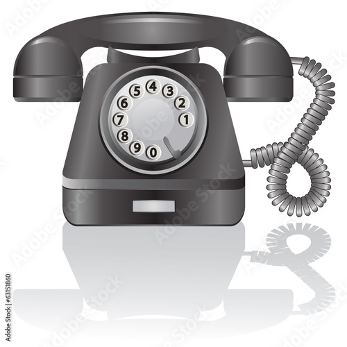 Retro telephone. Vector