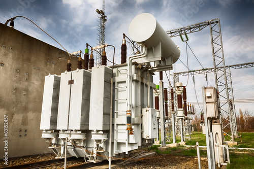 Leinwanddruck Bild high-power station