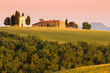 Tuscany, chapel and landscape