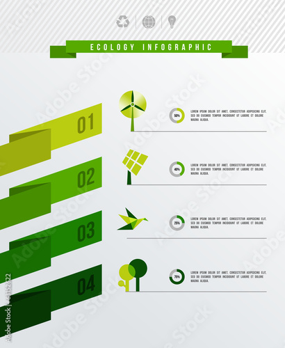 Ecology infographic vector flat illustration