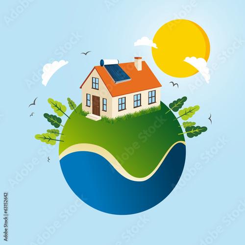 Green Solar energy concept